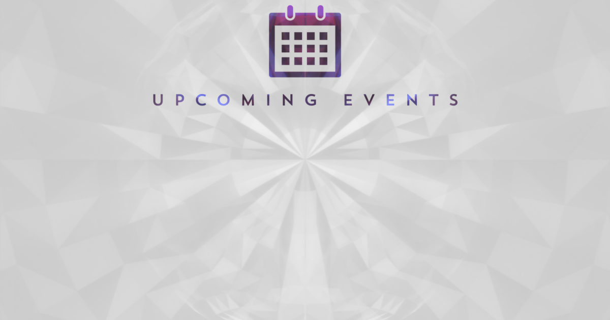 Geometric Glow Events Background