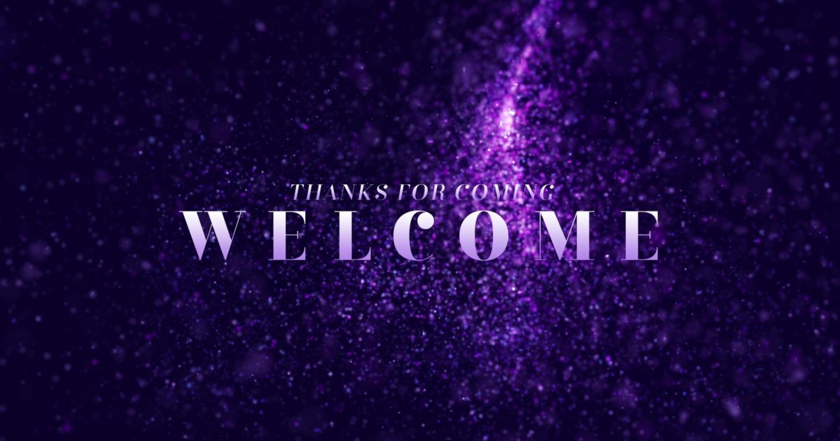New Year Glitter Welcome Still Background