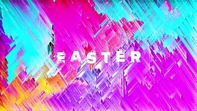 Color Strokes Easter Still