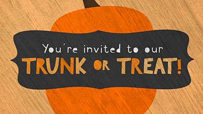 Cute Fall Trunk or Treat Invite