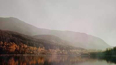 Deep Autumn Lakeside Still