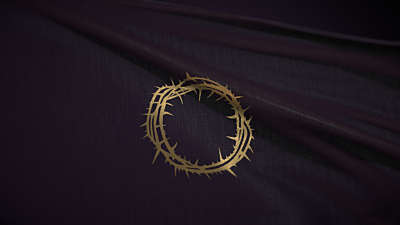 Easter Upside Down: Crown of Thorns Flag Still