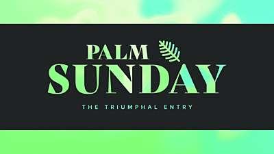 Easter Foil Palm Sunday Still