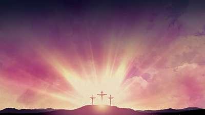Easter Morning Crosses Still