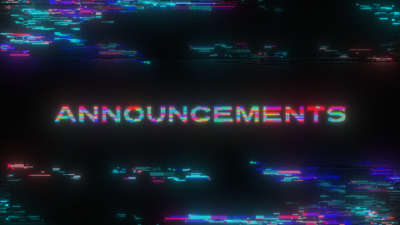 LED Glitch Announcements Still