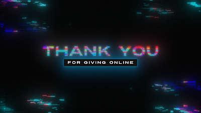 LED Glitch Giving Online Still