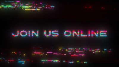 LED Glitch Join Us Online Still