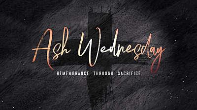 Lent Ash Wednesday Still