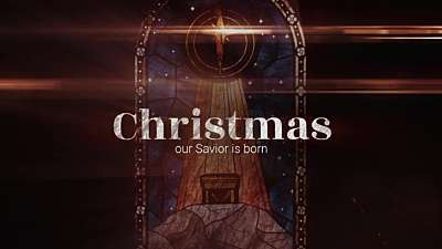 Nativity Glass Christmas Still