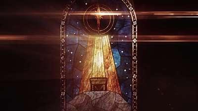 Nativity Glass Manger Still