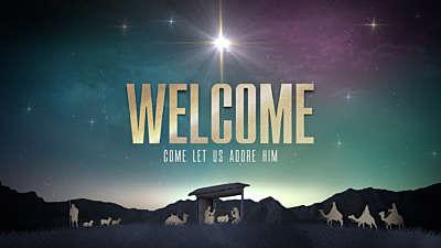 Nativity Christmas Welcome Christmas