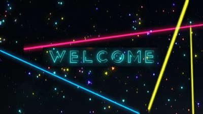 Neon Glow Welcome