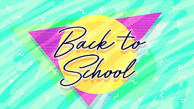 Neon Back To School Still