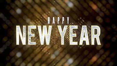 New Years Lights Happy New Year