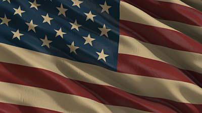Old Fashioned America Flag Still