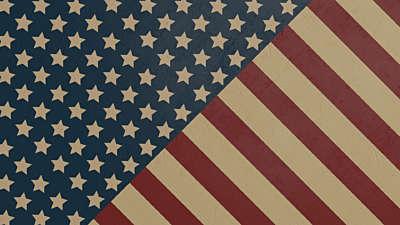 Old Fashioned America Stars & Stripes Still