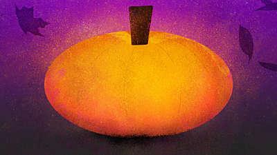 Painted Autumn Pumpkin 02