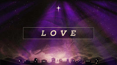 Painted Christmas Advent Love