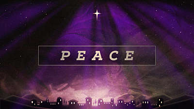Painted Christmas Advent Peace