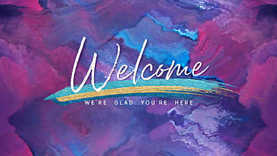 Painted Easter Welcome Still