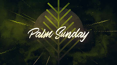 Particle Rays Palm Sunday Title