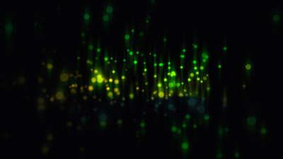 Particle Streaks Green Still