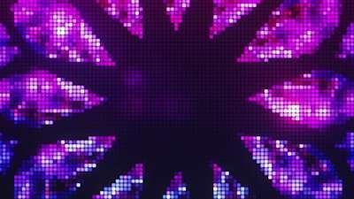 Pixel Glass Star Still