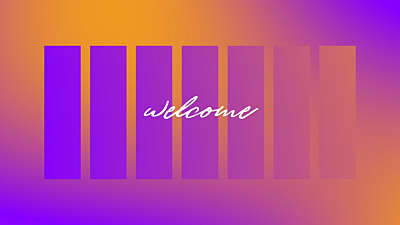 Radiant Gradient Welcome