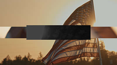 Sunset Flag Veterans Day Blank Still