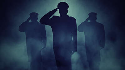 Veterans Salute Blue Still