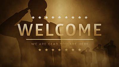 Veterans Salute Welcome Stil