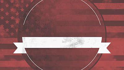 Vintage Patriotic Sky Blank Title