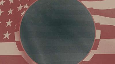 Vintage Waving American Flag 02