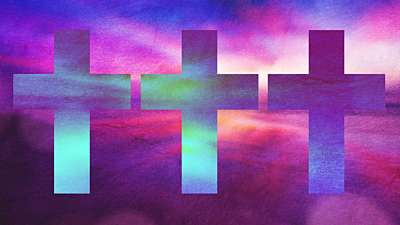 Watercolor Cross Sunrise Remix Still