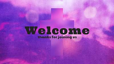 Watercolor Cross Welcome Still
