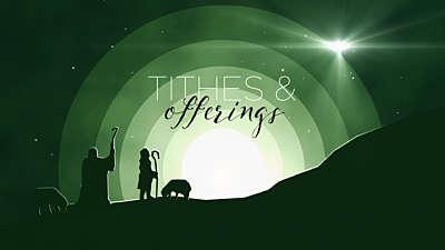 Winter Night Shepherd Tithes & Offerings Still