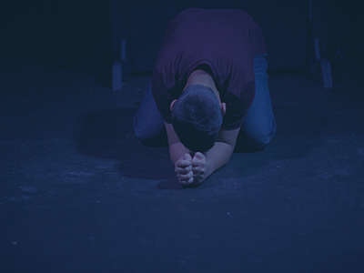 The Book of Deuteronomy: Kneeling Prayer Background